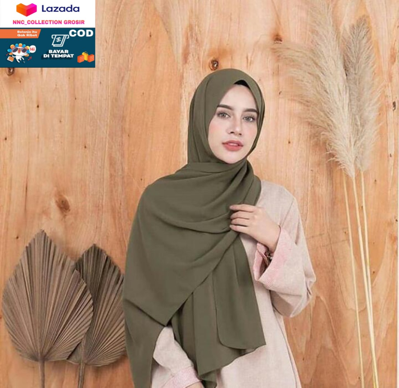 Jilbab / Pashmina Ceruty BabyDoll / Hijab Pashmina Ceruty / Terbaru dan  Termurah/Nnc_Collection