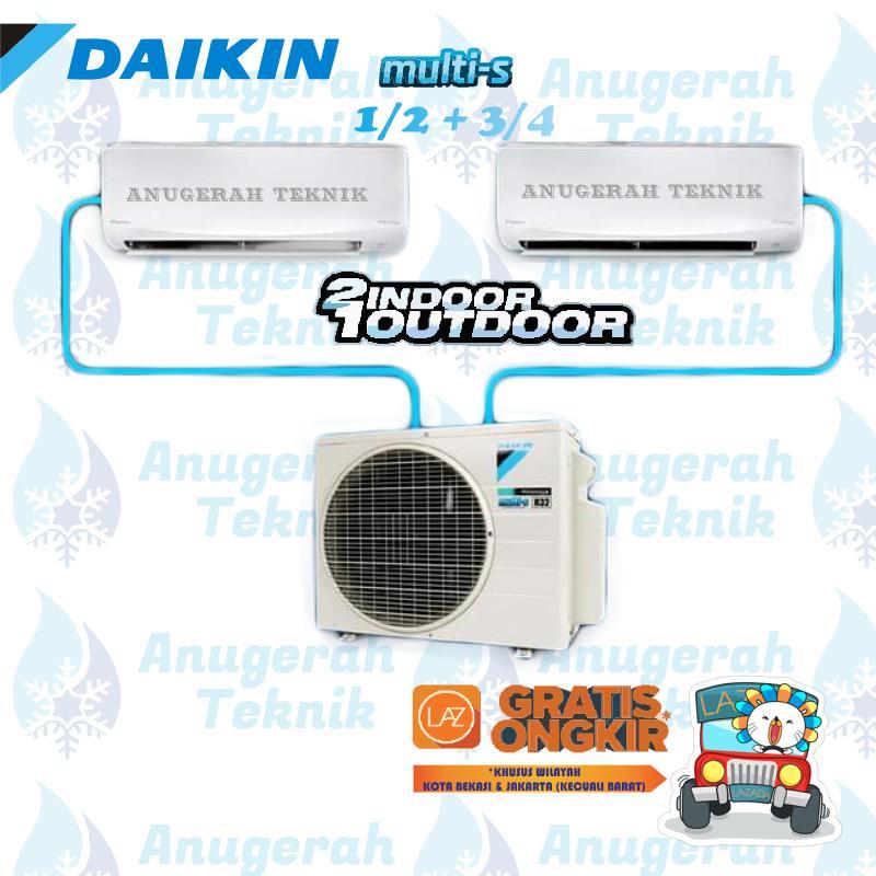 Daikin AC Multi Split 1/2 + 3/4 PK R32 Multi S Inverter - 2MKC30QVM4