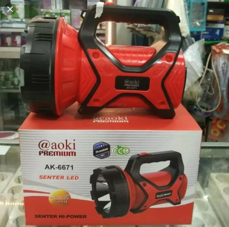 Senter Besar AOKI Premium AK-6671 / Senter JUMBO (15 Watt)