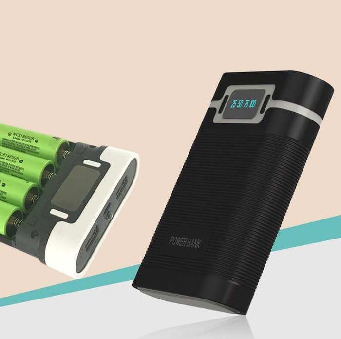Taffware DIY Power Bank Case 2 USB Port & LCD 4x18650 - Blue