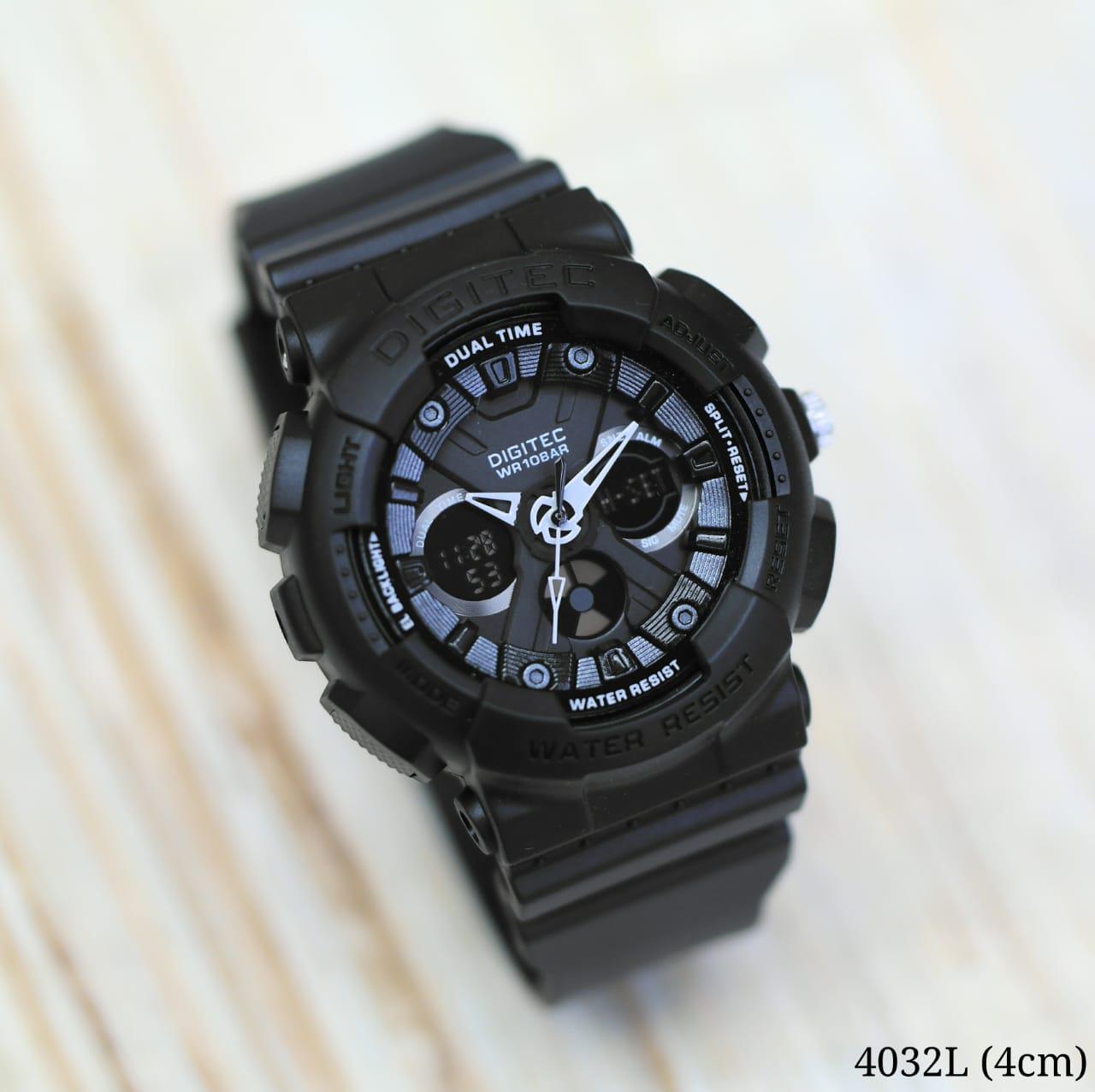 Jam Tangan Pria DIGITEC Dual Time ORIGINAL - Jam tangan Mewah Hight Quality Fitur Analog dan Digital Strap Rubber Nyaman digunakan - BEST SELLER-BRAND MEWAH TERNAMA -  Lengkap dengan BOX  - D7734
