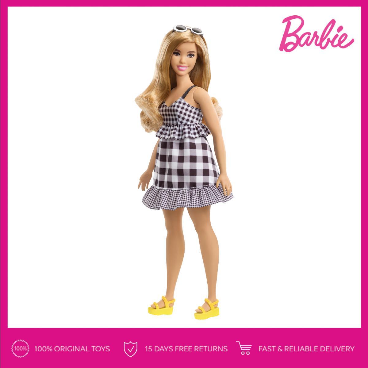 Barbie Fashionistas Doll 96 – Curvy with Dark Blonde Hair Boneka Mainan  Anak Perempuan 7045fc1bd3
