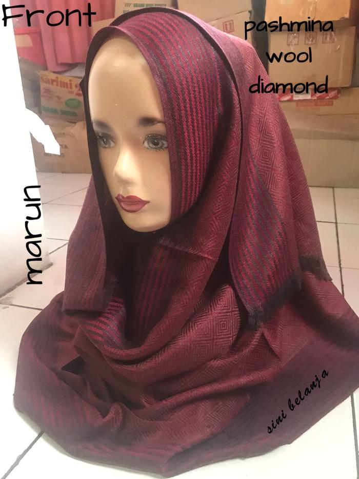 BARBARA - Jilbab pashmina IMPOR / VS / vonny scarf / wool diamond
