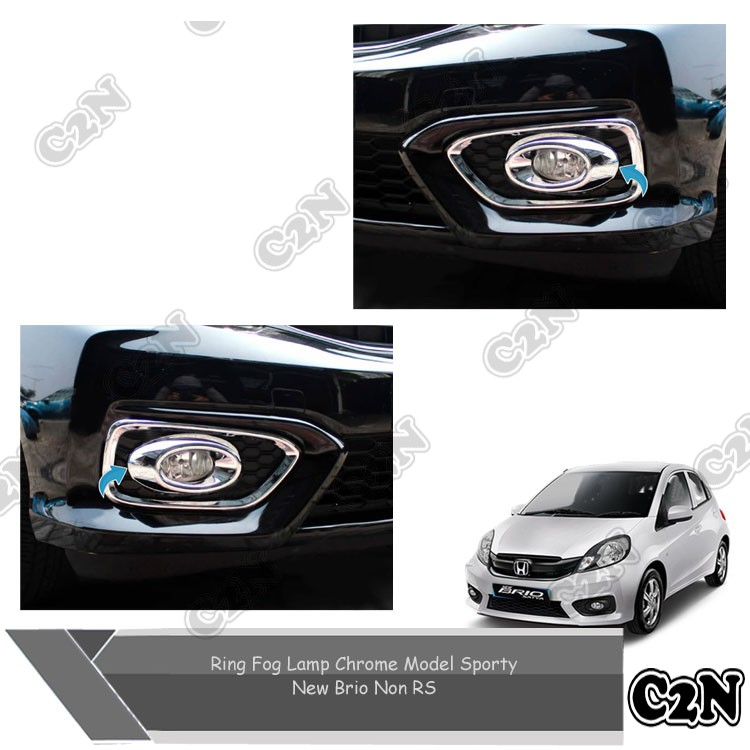 Ring Fog Lamp Chrome Model Sporty Mobil New Brio Non Rs