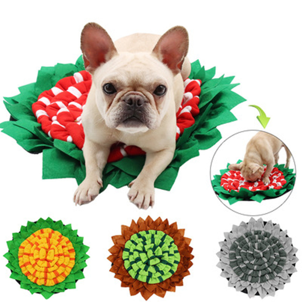 YOUTHSTORE17E5 Snuffle Puzzle Dog Nosework Interactive Pet Toys Dog Enrichment Toys Foraging Slow Food Mat Puzzle Toys For Pet Dog Snuffle Mat