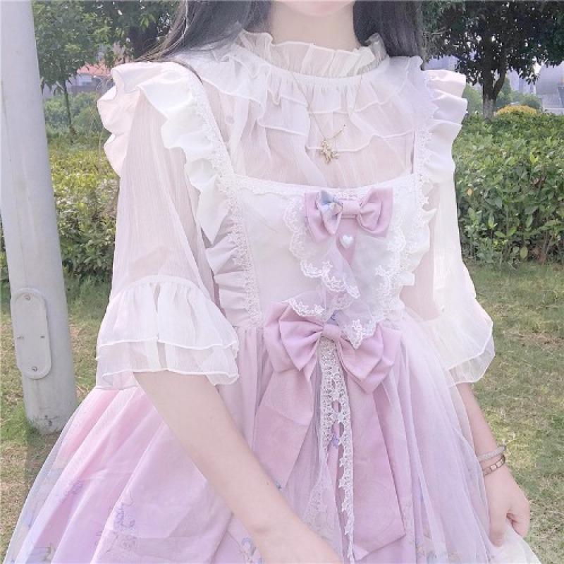 Hàn Quốc Nấm {Hàng Có Sẵn} ~ Nhà Máy Thiết Kế Độc Quyền Thiết Kế Phong Cách Nhật Bản Đáng Yêu Lolita Dự Tiệc Gấu Đầm Jsk Hai Dây Đầm