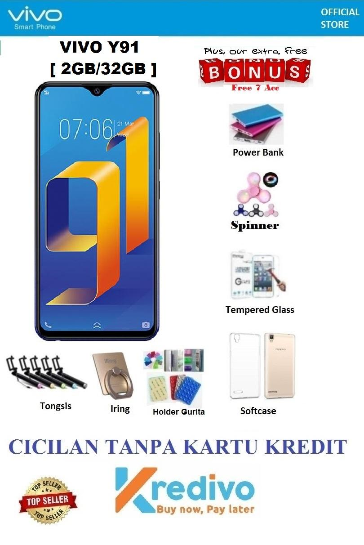 Vivo Y91 Ram 2GB 32GB - Cicilan Tanpa Kartu Kredit + Free 6 Items d11ec794d3