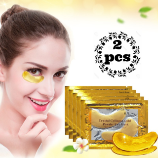 (2 PCS) Masker Mata Crystal Collagen Gold Eye Bag Mask Eyemask - termurah thumbnail