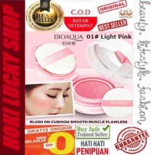 LUCKY COD - Bioaqua Blush On Air Cushion Smooth Muscle Flawless 01 Light Pink Terlaris thumbnail