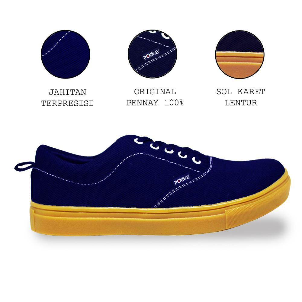 Pennayos Termurah Sepatu Kets Sneakers Kasual Pria Px-340 - Pennay Shoes Authentic Gum Series - Multi By Pennay Official Store.