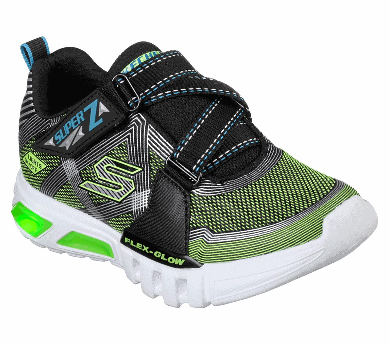 9109f8116e9 Skechers - S Lights  Flex-Glow - Parrox Sepatu Sport Sneakers Anak Laki-