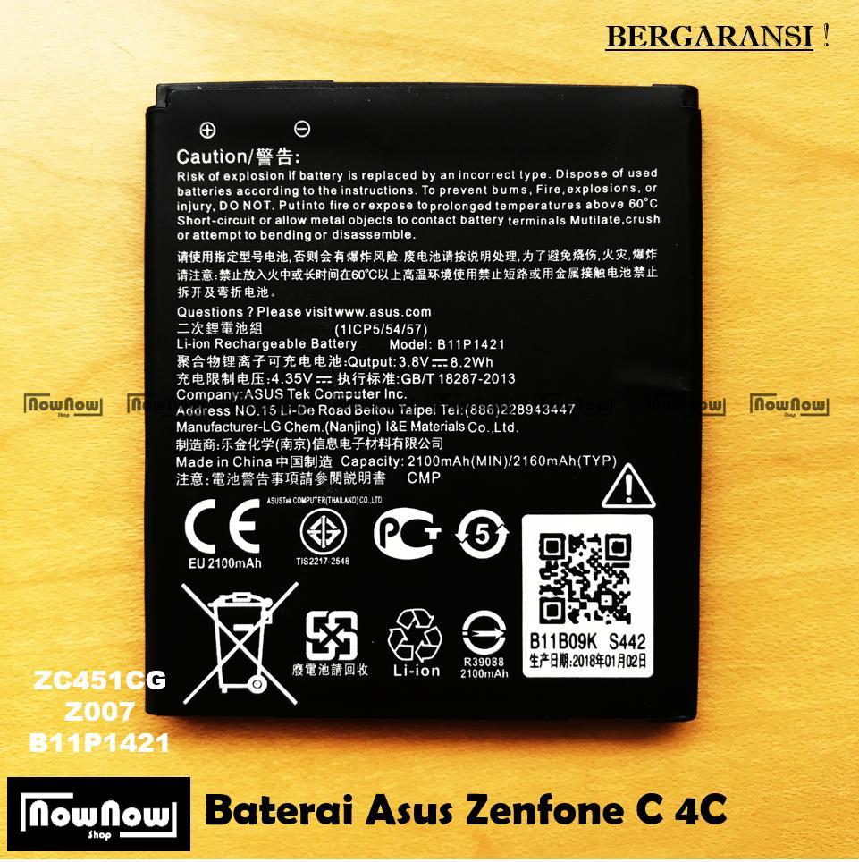 Baterai Asus Zenfone C ZC451CG 4C Z007 Original Batre Batrai Battery HP ZenPhone Zen Fone