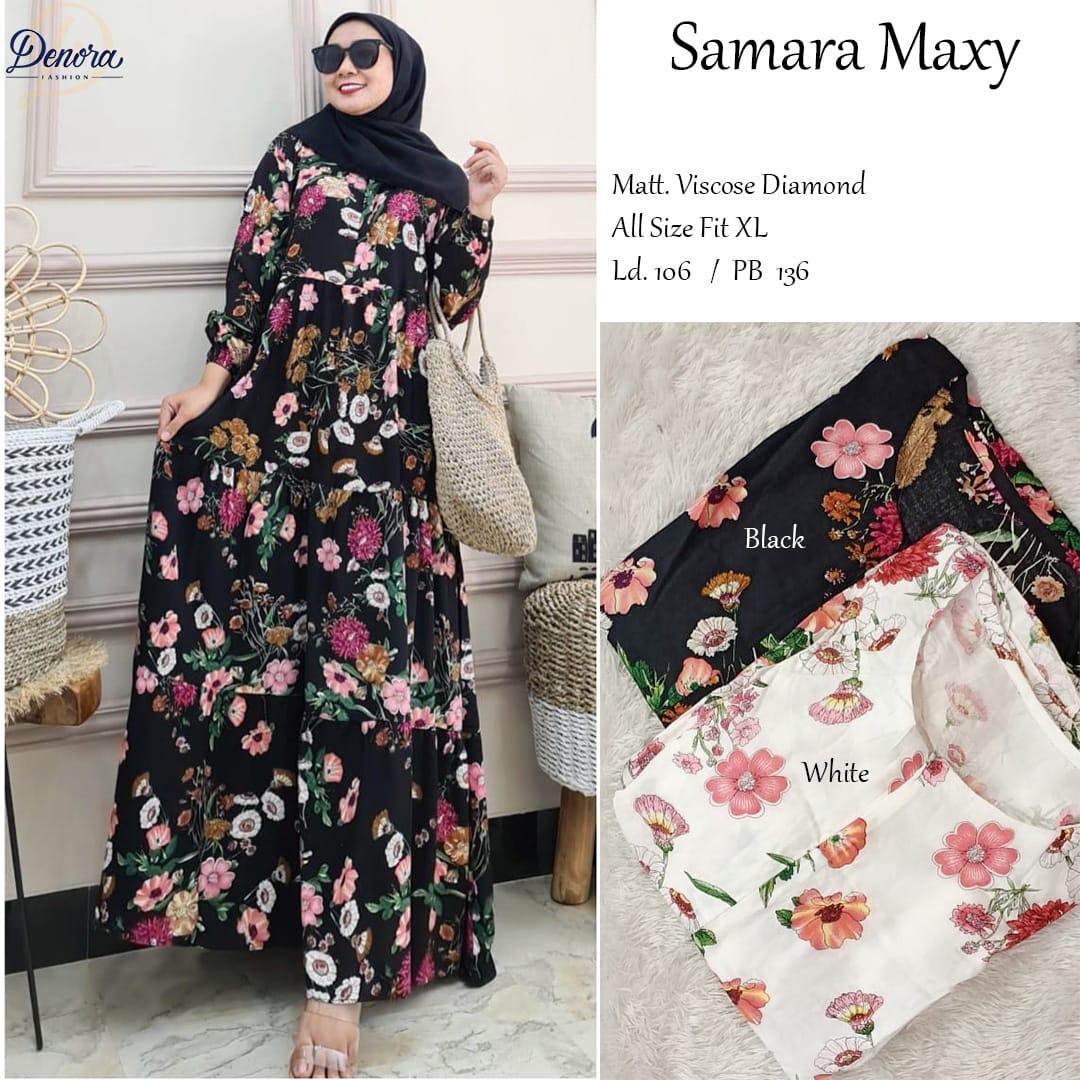 COD Realpict Dress Samara Maxy Viscose Diamond   Dress Muslim Modern Terbaru   dress batik kombinasi brokat lengan panjang