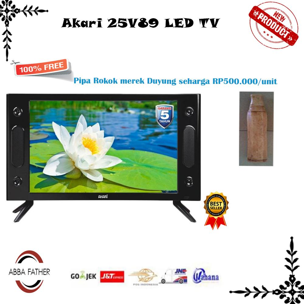 Akari 25V89 LED TV 25 Inch USB Movie-Promo-khusus jabodetabek free
