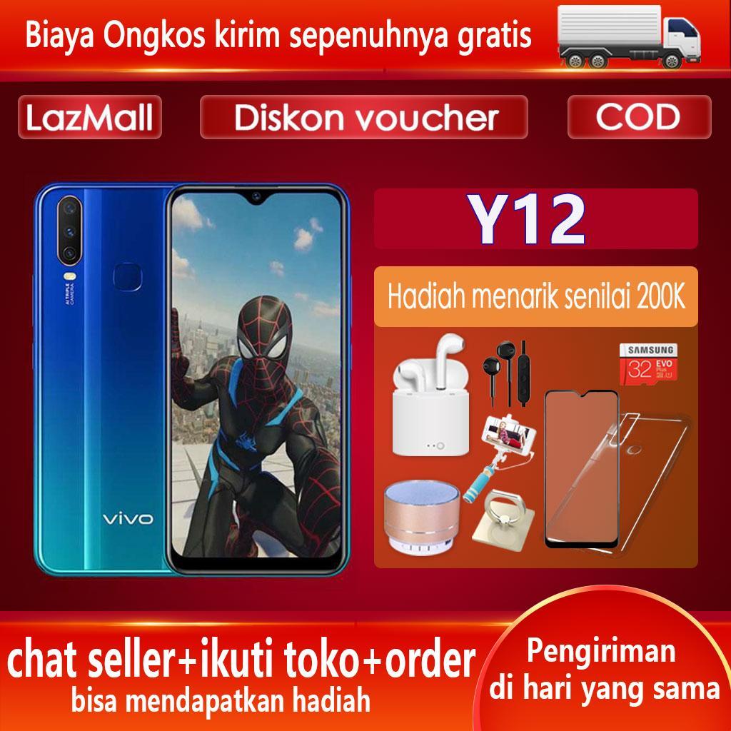 Vivo Y12 hp RAM 3GB ROM 32GB Gratis Ongkir 5000mAh Battery Garansi Resmi BISA COD