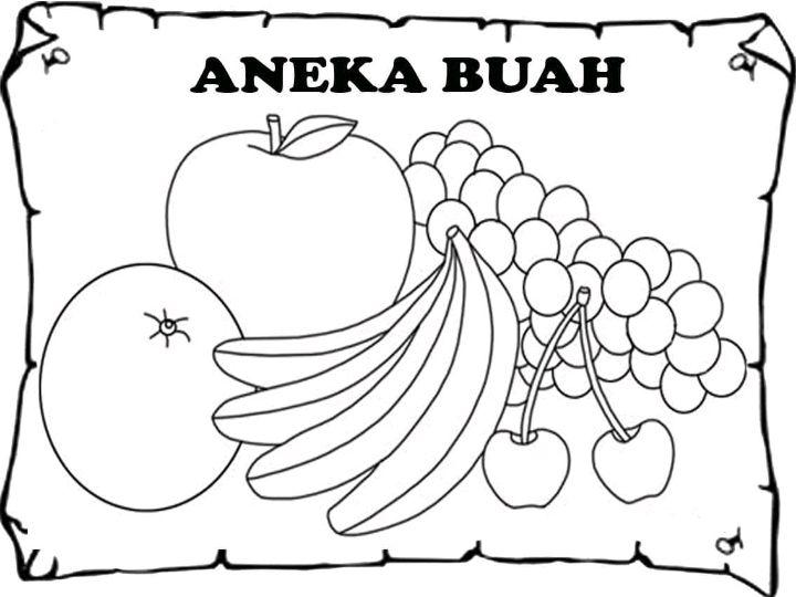 Kanvas Mewarnai Sketsa Bergambar Seri Buah Dan Bunga Isi 10 Lembar Lazada Indonesia
