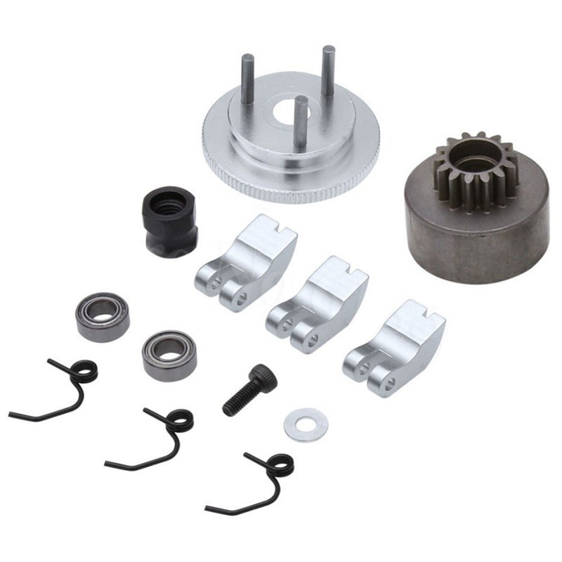 Giá bán RC Clutch Bell 14T Gear Bearing Clutch Shoes Springs Cone&Engine Nut Flywheel Assembly for 1/8 RC Model Nitro Car HPI HSP Traxxas