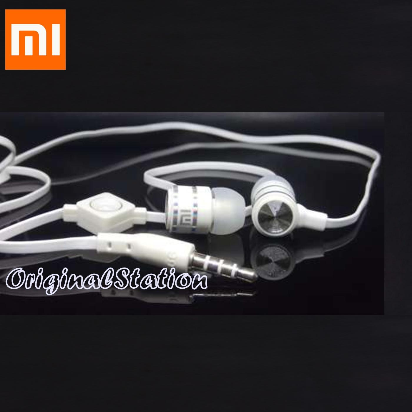Xiaomi Headset Hansfree Hifi Audio Phones Flat Cable Model Putih