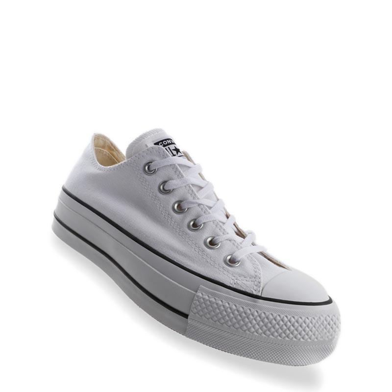 Converse Chuck Taylor All Star Lift Ox Sepatu Wanita - Putih