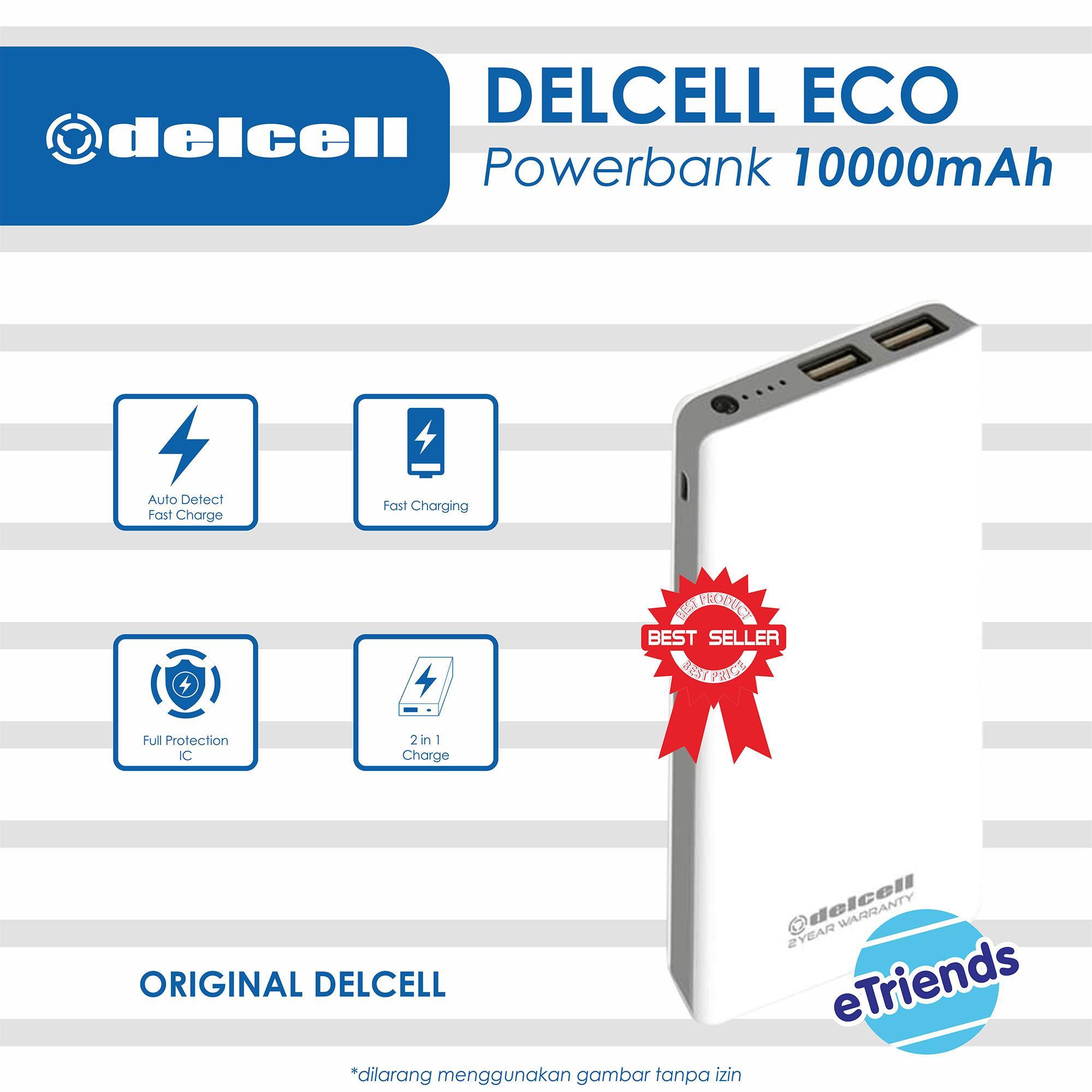 PowerBank Delcell ECO 10000Mah Power Bank Original Fast Charging