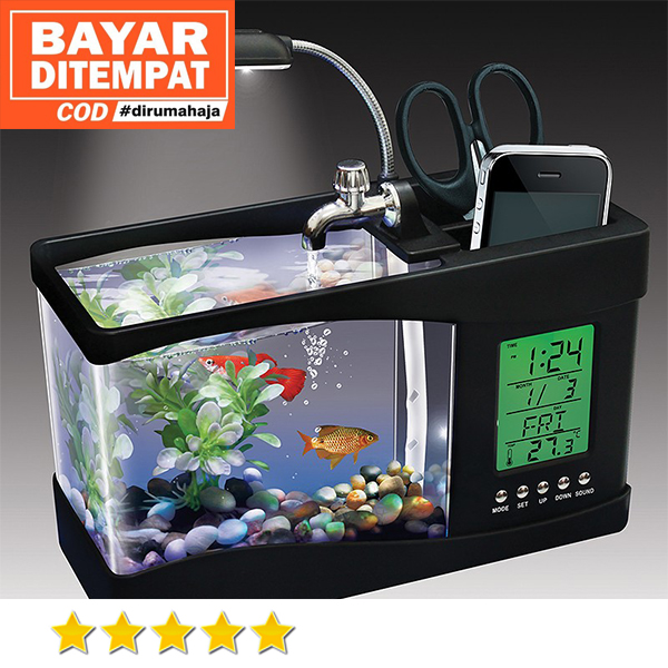 Black Aquarium Hiasan Meja Aquarium Mini Portable Usb Desktop Aquarium Mini Fish Tank With Led Running Water Aquarium Mini Ikan Hias Kaca Kotak Lampu Aquarium Mini Lazada Indonesia