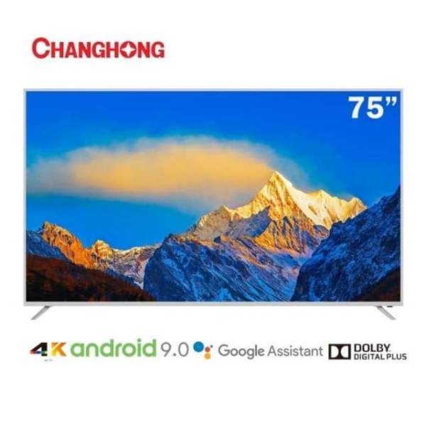 Ready  CHANGHONG 75 Inch LED 4K UHD Android 9.0 Smart TV - L75H9
