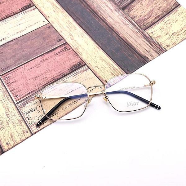 Kacamata DR93010-H75P145L46 Bahan Resin Unisex Lensa Clear Frame Rosegold Hitam  Bisa Tambah Resep - abe50cd547