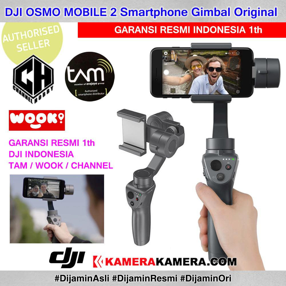 Dji Osmo Mobile 2 Smartphone Gimbal - Garansi Resmi Indonesia 1th Tam - Wook - Channel By Kamerakamera.