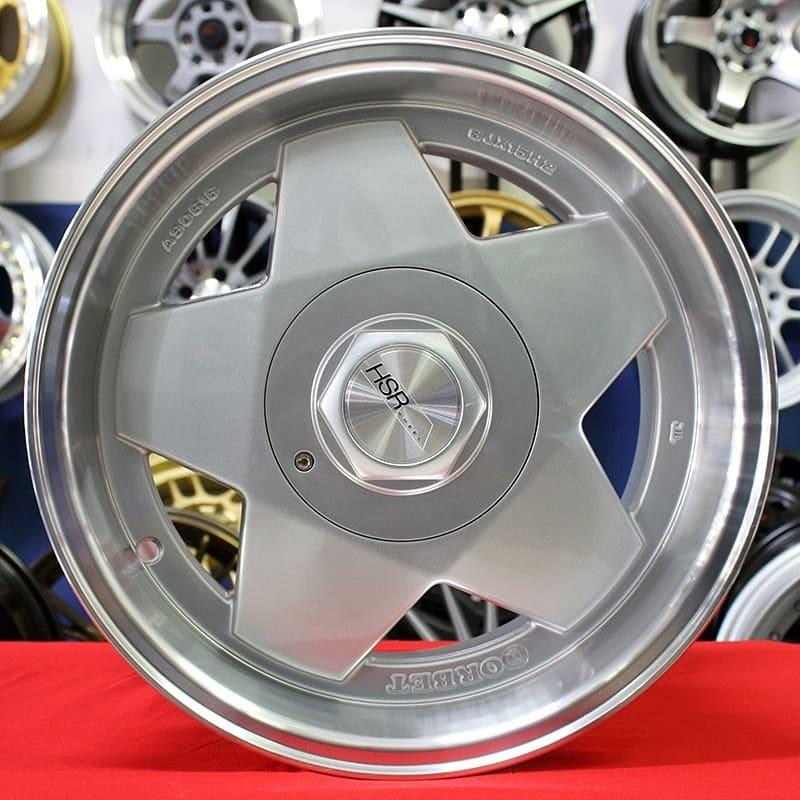 Velg mobil murah HSR AACHEN 5076 Ring 15 silver Racing Celong