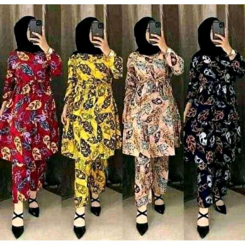 Setcel Setelan Rayon Celana Janda Bolong Terbaru Busui Pakaian Wanita Murah Produksi Sendiri Lazada Indonesia