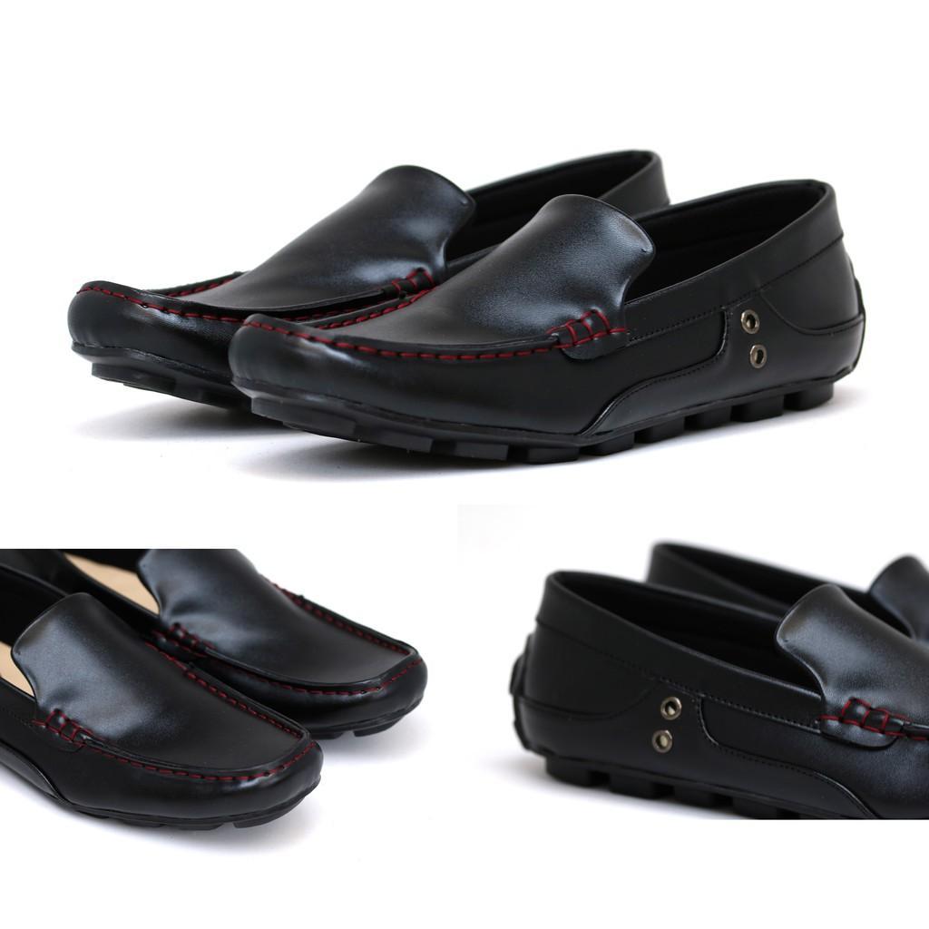 Slip On Loafer Formal Pria Sepatu Selop Kulit Jook Cocoes 067 Pantofel Hitam Coklat Sepatu Kantor