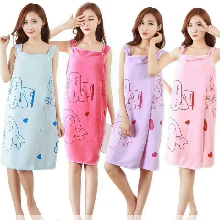 Handuk Dress Handuk Baju Kimono Dewasa Motif By Sunstore.