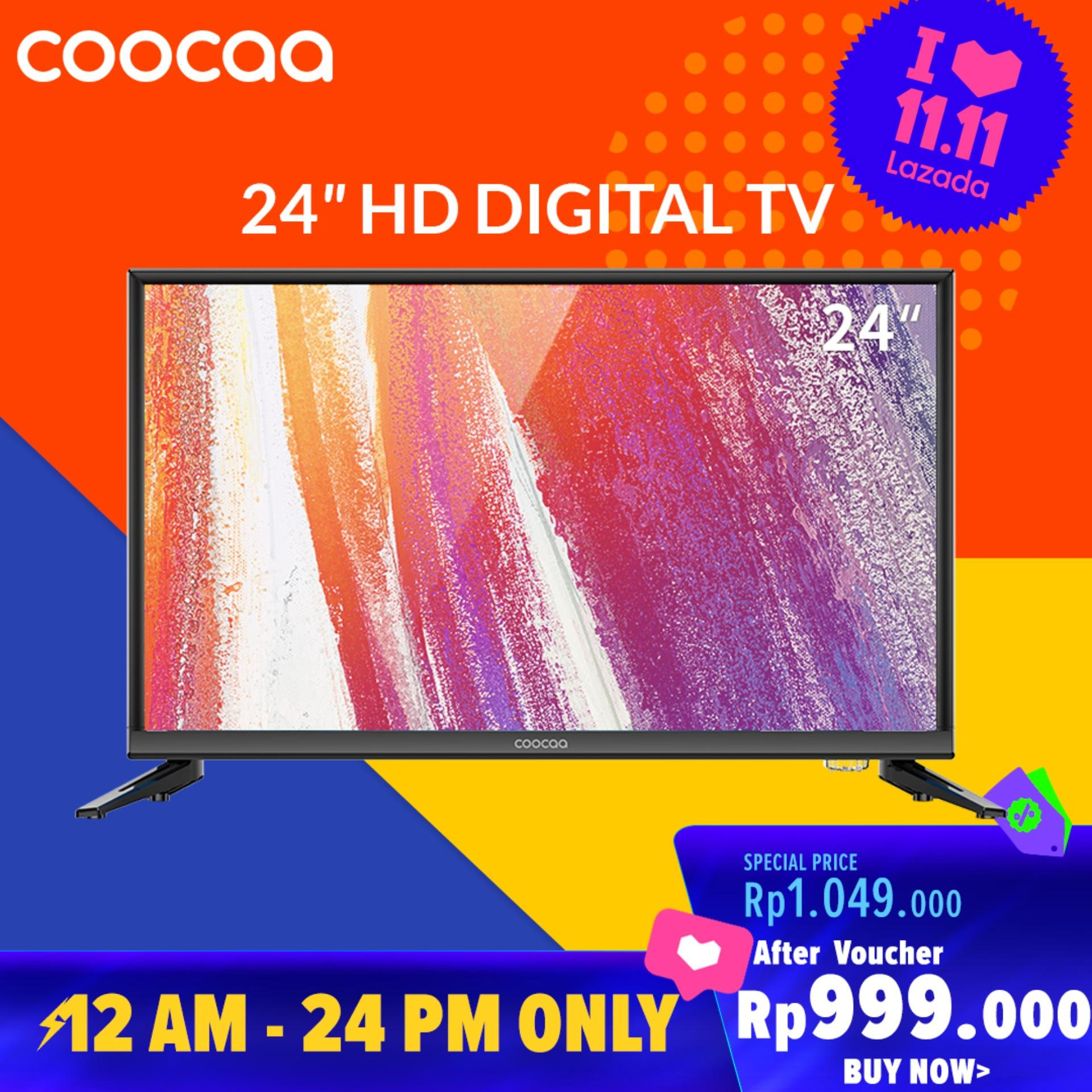 COOCAA LED TV 24 inch - HD Panel - USB/HDMI/VGA - Slim (Model : 24D3A)