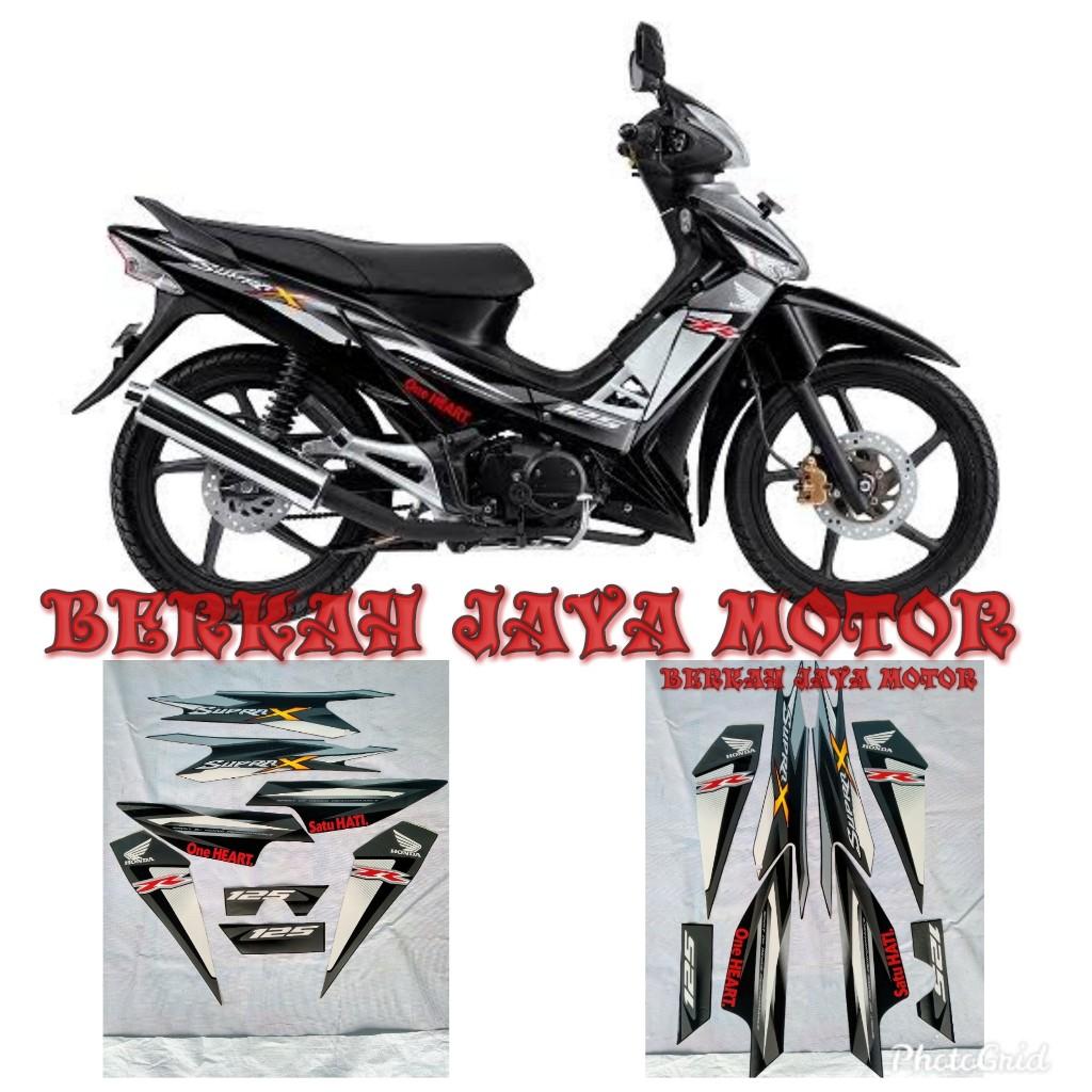 Striping Sticker Lis Body Motor Honda Supra X 125 Tahun 2012 2013 Hitam Full Lazada Indonesia
