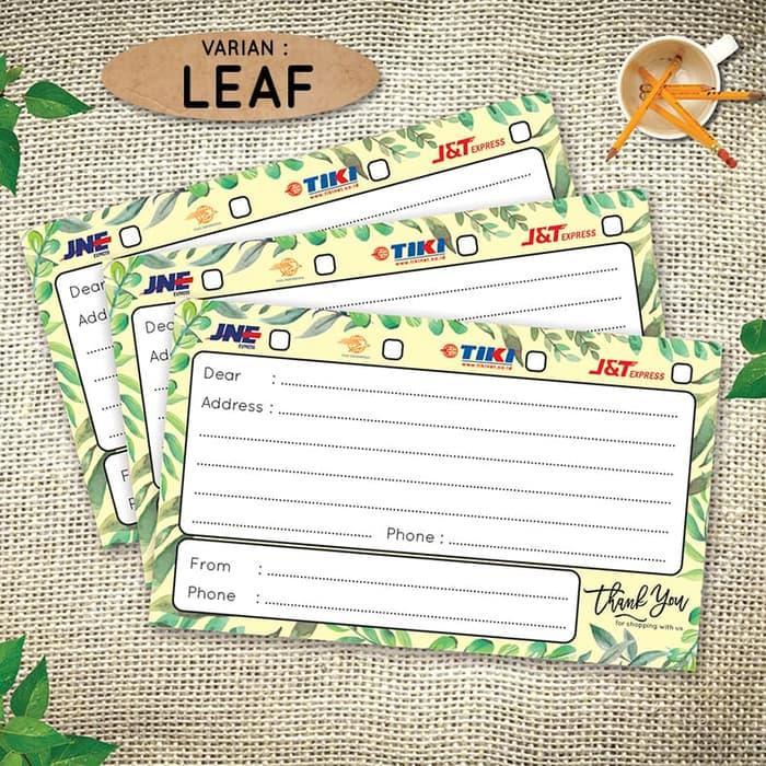 Paket (10lembar Stiker ) Stiker Alamat Pengiriman Olshop - Sticker Shipping Label Online Shop - Leaf By Vingy Home Decor.