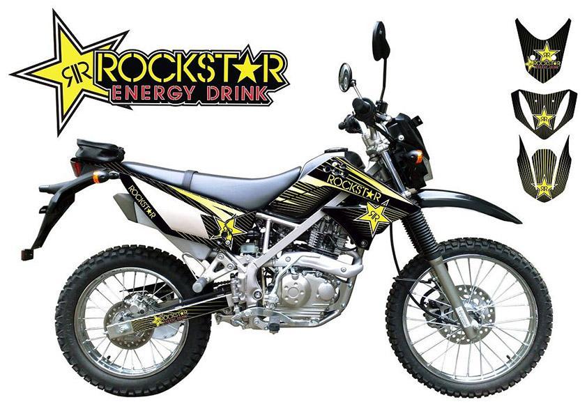 Decal Stiker Motor KLX S 150 cc Kawasaki Rockstar Variasi - Udshop