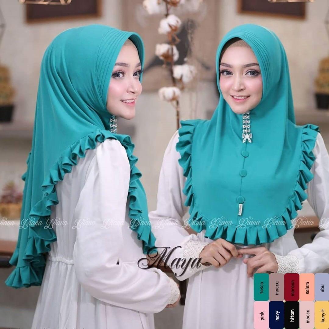 Khimar Marwa Muslim Wanita  / Khimar Oneto / Pakaian Muslim / Jilbab Instan