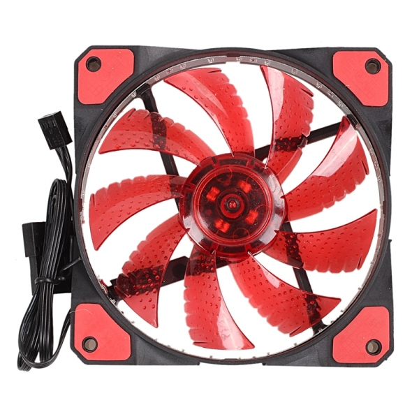 Bảng giá 120mm PC Computer 16dB Ultra Silent 33 LEDs Case Fan Heatsink Cooler Cooling with Anti-Vibration Rubber,12CM Fan,12VDC 3P IDE 4pin red Phong Vũ