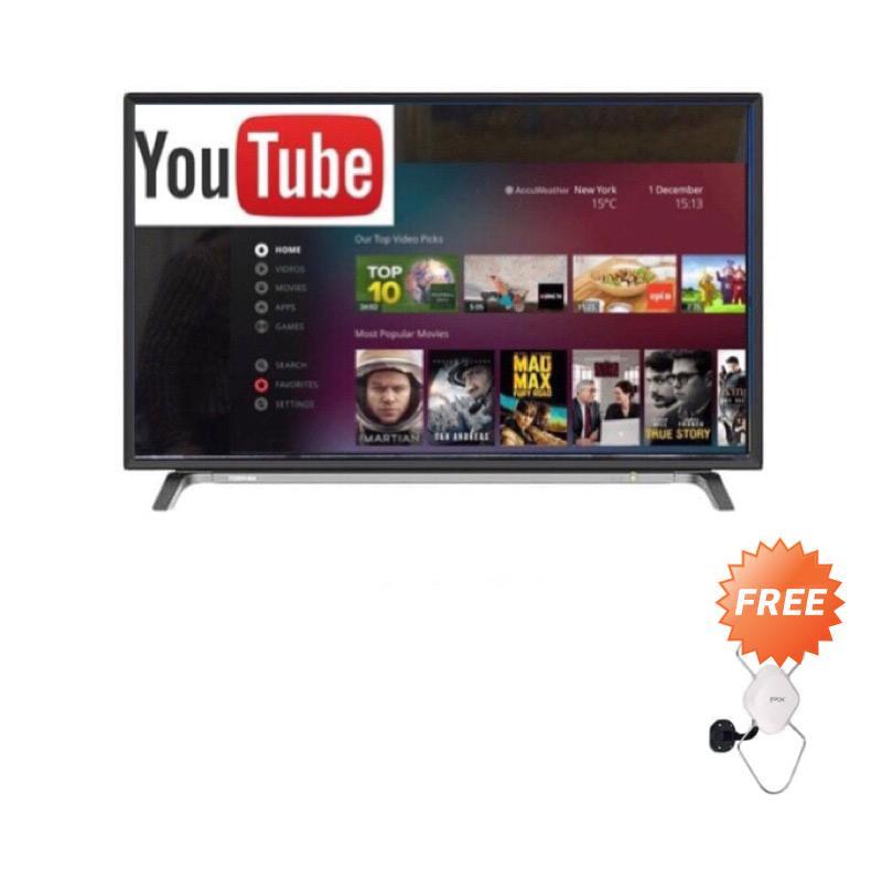 Toshiba 32L5650 Smart LED TV + Antena Indoor Outdoor PX HDA-5600