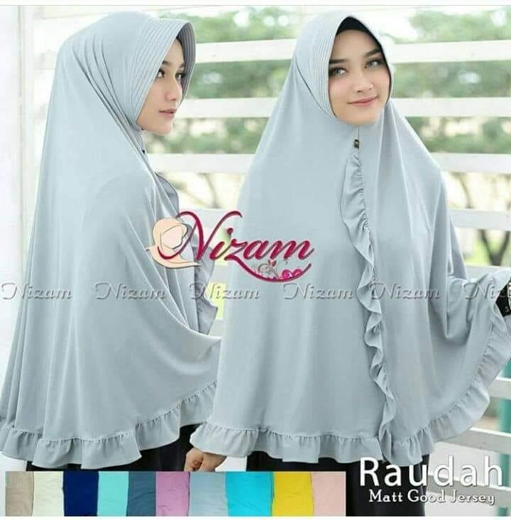 Hijab Khimar Nizam Raudah Jilbab Khimar Syari Kerudung Khimar Syari Instan Panjang Terbaru bahan Jersey Balon