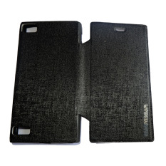 Easy Bear Leather Case Sarung Untuk Blackberry Z3 Flipshell/Flipcover - Hitam