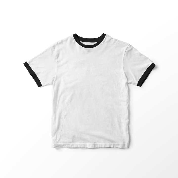 YELONIX - Kaos Baju T-shirt Ringer Tee Polos Tumblr Tee