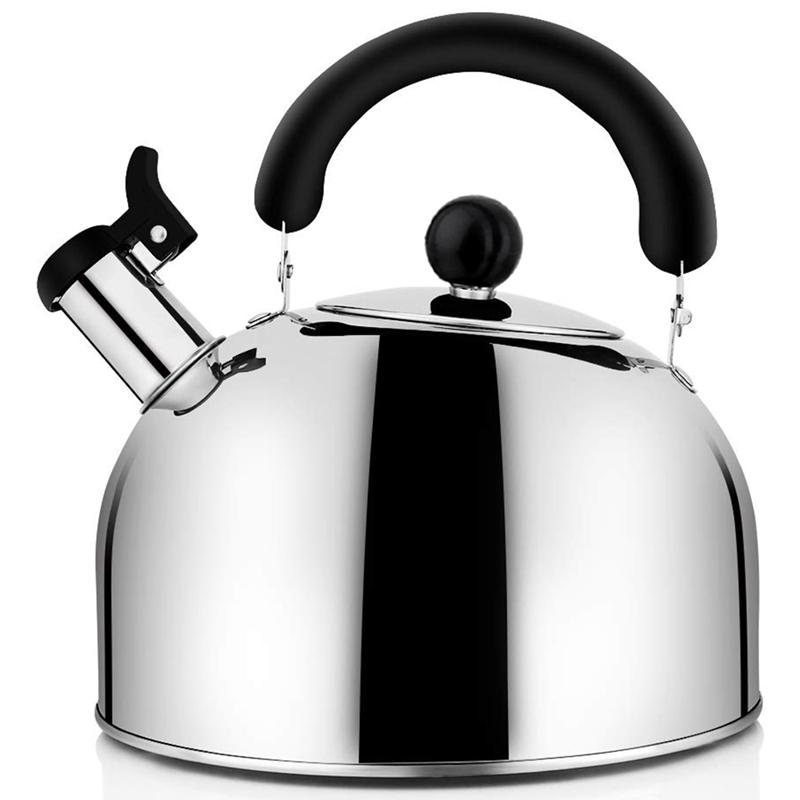 Tea Kettle Stovetop Whistling Tea Pot, Stainless Steel Tea Kettles Tea Pots For Stove Top, 4.3Qt(4-Liter) Large Capacity With Capsule Base