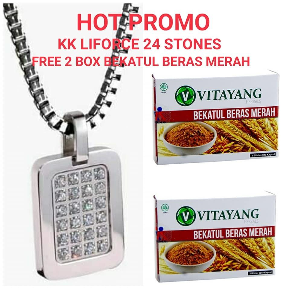 Hot Promo Kk Liforce 24 Stones Free 2 Box Bekatul Beras Merah By Lita Healthy And Beauty Shop.