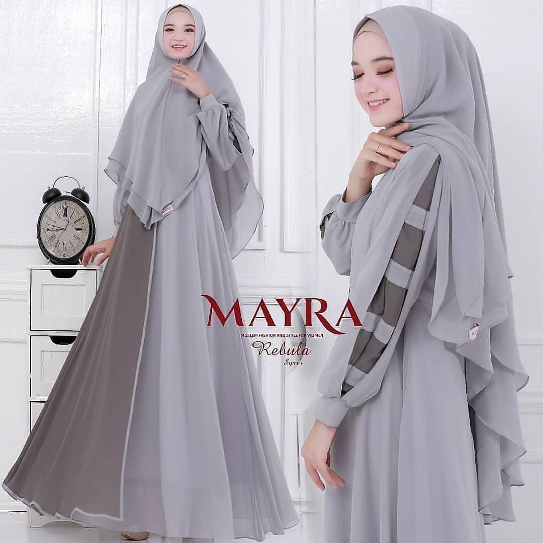 Busana Muslimah Terbaru Terlaris 2020 Rebula Syar I Baju Gamis Wanita Muslimah Terbaru 2020 Gamis Trendy Modern Casual Baju Modis Panjang Baju Syar I Muslim Wanita Baju Kerja Syari Panjang Termurah