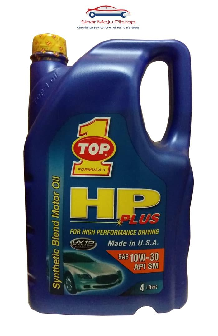 Top One HP Plus 10W-30 Synthetic Oli Mobil Bensin 4 Liter Made in USA