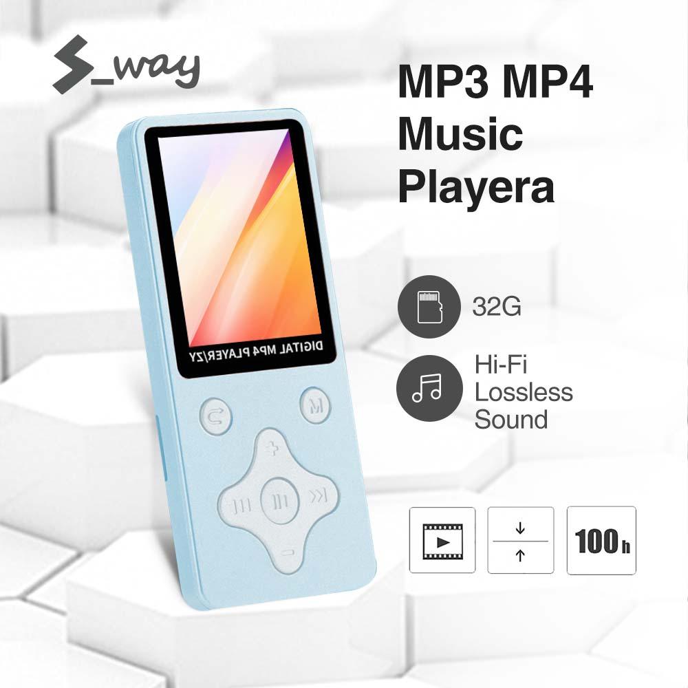 S-way Máy nghe nhạc kỹ thuật số chất lượng cao MP3 hỗ trợ đọc sách điện tử ghi FM thẻ...