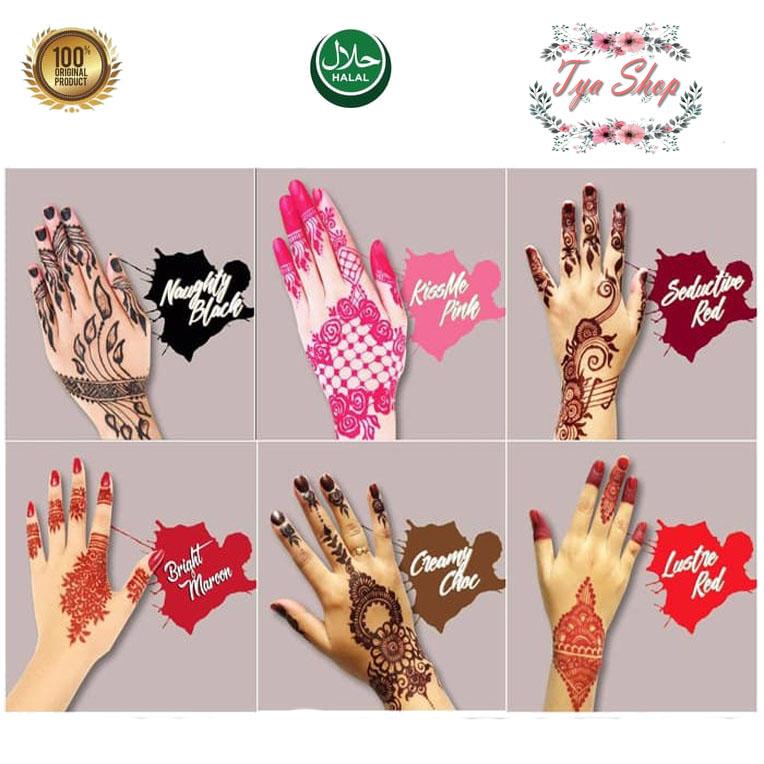 Tya Shop Henna Tangan Special Warna Henna Campur 1 Box Isi 12 Cone Lazada Indonesia