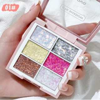 NOVO 6 Colors Diamond Sparkling Glitter Shining Star Eyeshadow for Party and Daily Use thumbnail