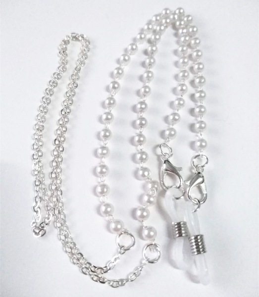 1PC Pearl Eyeglass Chain Mask Hanging Rope Fashion Glasses Chain Face Mask Lanyard Mask Holder Adjustable Traceless Ear Hanging Rope Two Hooks Hot